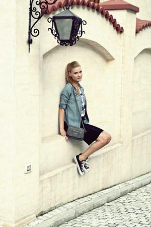 Ralph Lauren shirt - calvin klein bag - Zara skirt - Converse sneakers