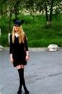 H-m-dress-handmade-hat-vintage-shirt-david-jones-bag-h-m-flats