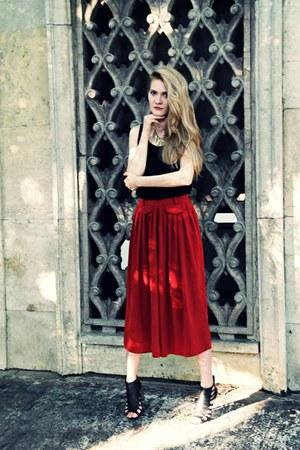 H&M necklace - vintage pants - H&M top - asos heels