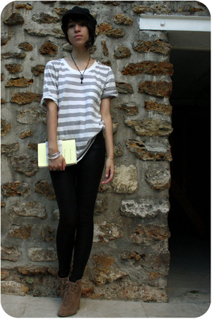 Zara shoes - The Kooples shirt - American Apparel leggings - H&amp;M hat - Satellite