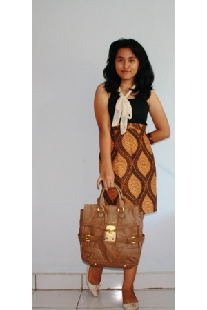 unbranded blouse - Bandung accessories - Batik Keris modified skirt - Miu Miu ac