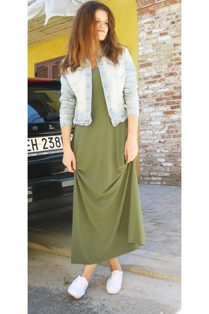 denim jacket Terranova jacket - maxi dress tezenis dress