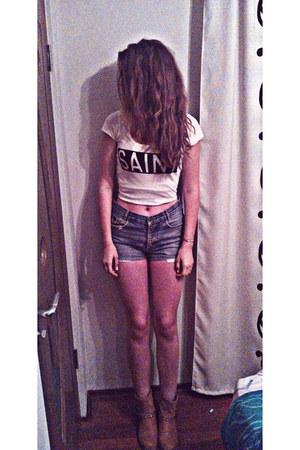 t-shirt Tally Weijl t-shirt - jeans Yves Saint Laurent shorts