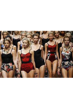 white D&G swimwear - red D&G swimwear - black D&G swimwear