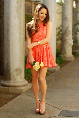 carrot orange dress