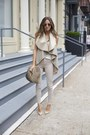 Beige-coat-periwinkle-pants