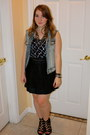 J-crew-vest-forever-21-top-j-crew-skirt-aldo-wedges