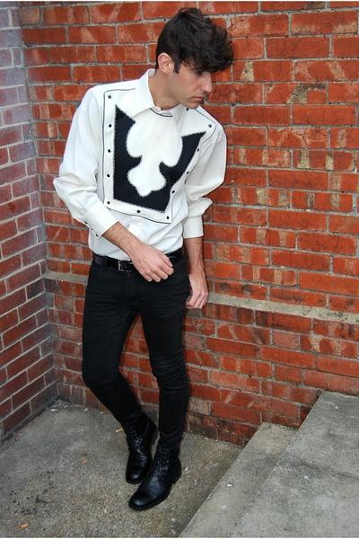 Topman boots - april 77 jeans - vintage shirt
