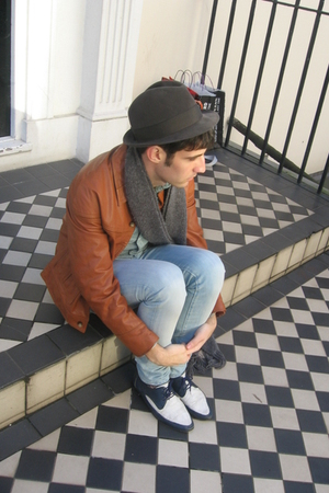 vintage jacket - REPLAY jeans - Topman shirt - vintage shoes