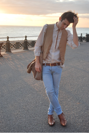 Newlook boots - vintage shirt - vintage vest - I made it accessories