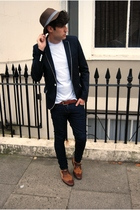 Topman blazer - Topman hat - Primark t-shirt - april 77 jeans - Zara shoes