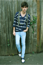 vintage sweater - REPLAY jeans - vintage shoes
