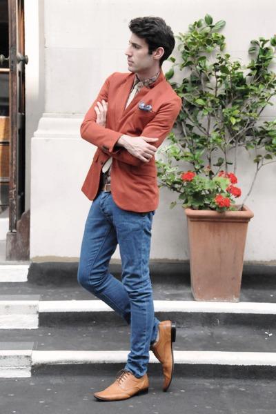 Zara blazer - Primark shoes - Sisley shirt - Topman pants - Topman tie