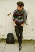 Topshop shoes - vintage sweater