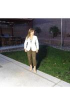 Forever 21 blazer - Gap pants - Target top - Zara heels