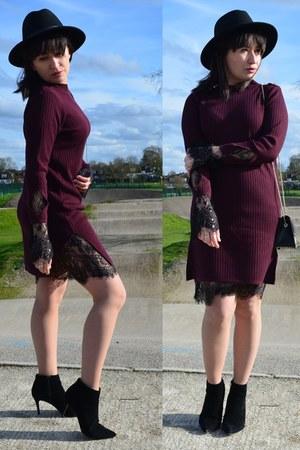 River Island boots - zaful dress - Furla bag
