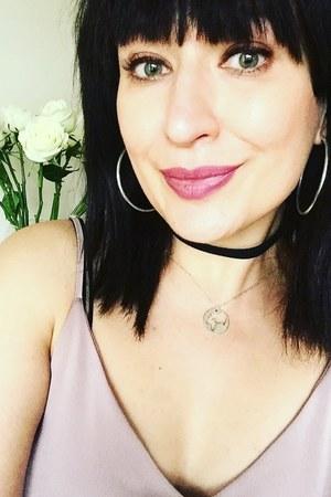 silver Stilnest necklace - dust pink River Island dress