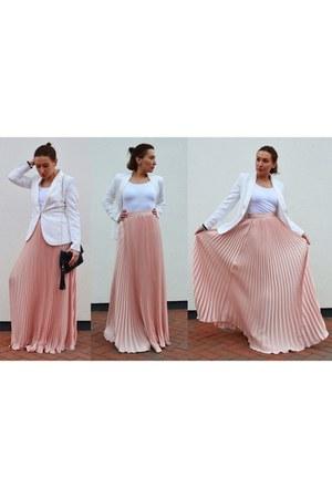 romwe skirt - H&M blazer - Atmosphere heels - Atmosphere blouse