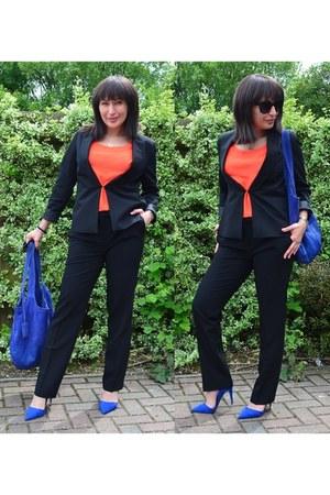 BonPrix bodysuit - Atmosphere heels - silk orange Ducie London blouse