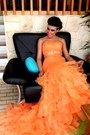 Carrot-orange-lightinthebox-dress