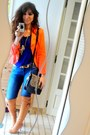 Burnt-orange-boots-periwinkle-zara-jeans-carrot-orange-vintage-blazer