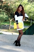 gold H&M necklace - gold Bershka necklace - black Boohoo boots