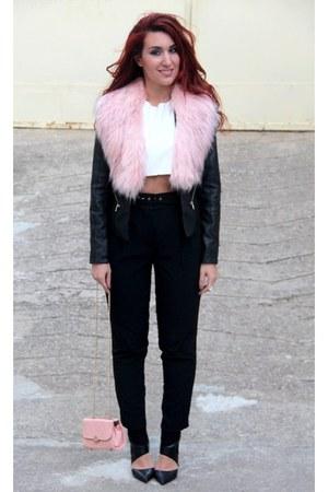 pink River Island jacket - pink DressLink bag - black River Island pants