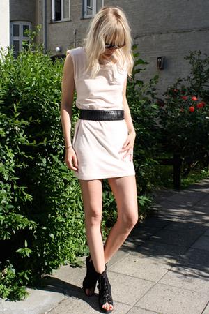 H&M dress - Zara belt - acne shoes