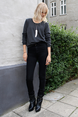 Carin Wester boots - weekday sweater - Sowat necklace - acne jeans