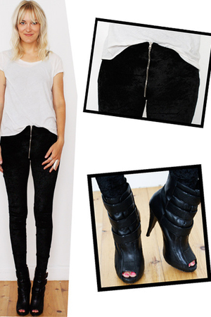 own design leggings - Aldo boots - COS t-shirt
