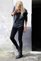 H&M jacket - H&M leggings - Haider Ackermann boots