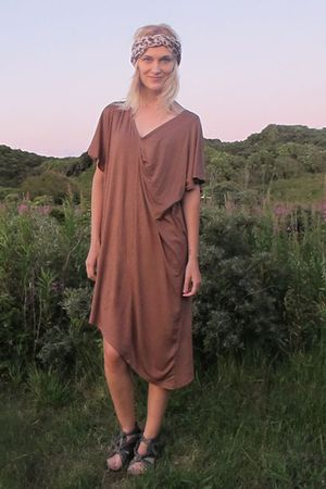 brown H&M dress - black Carin Wester shoes