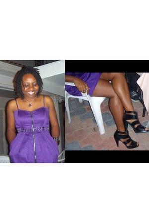 black Fioni shoes - deep purple Kouture by Kimora dress