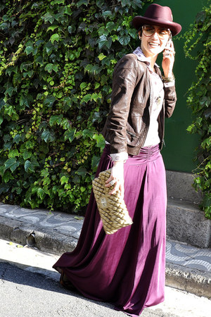magenta Dollhouse skirt - magenta Del Monico Hatter hat - dark brown Zara jacket