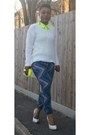 Lime-green-peplum-boohoocom-shirt-white-stilettos-asos-heels