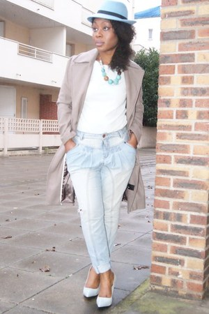 light blue Very jeans - sky blue select hat - light blue Zara heels