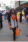 Black-zara-leggings-navy-asoscom-jumper-carrot-orange-h-m-top