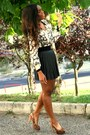 Black-stradivarius-skirt-brown-primark-blouse-schutz-heels
