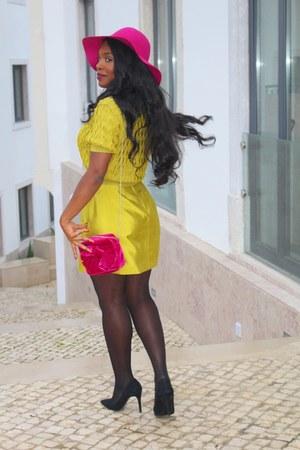 mustard H&M skirt - mustard H&M top