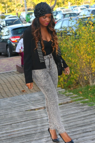 black BLANCO jacket - silver H&M pants