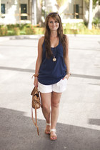 Zign sandals - Topshop bag - Vero Moda shorts - River Island vest