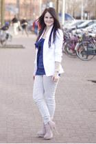 Zara Trf jeans - asos blazer - asos top - Steve Madden heels - Michael Kors watc