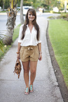 Miss Selfridge shorts - Topshop bag - house of harlow sandals - Zara blouse
