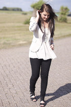 H&M jeans - Rinascimento blazer - H&M top - asos wedges