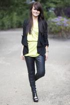 River Island blazer - Topshop pants - asos top - sam edelman heels - Michael Kor