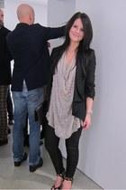 River Island jacket - MinkPink leggings - H&M bag - asos top - Jimmy Choo for h&