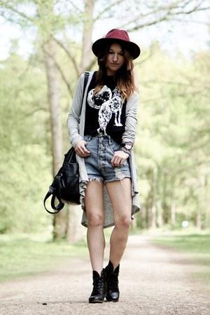 trendsgal cardigan - trendsgal watch - black StyleMoi top