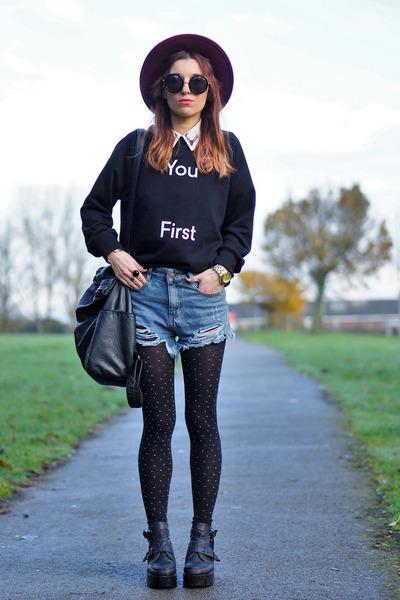 black tights - black BangGood sweatshirt