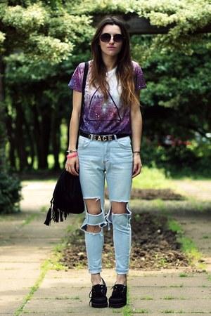 OASAP t-shirt - Persunmallcom jeans