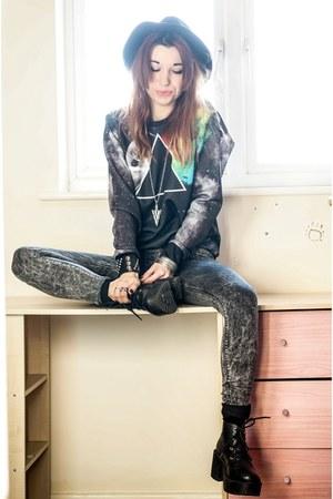 Primark jeans - black StyleMoi sweatshirt